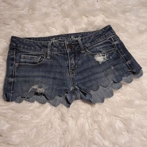 American Eagle Outfitters Shorts - Scalloped custom made shorts AE shorts